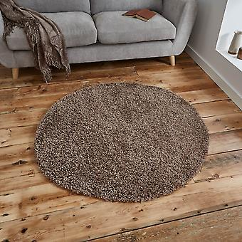 Vista okrągłe dywany Shaggy 2236 beż