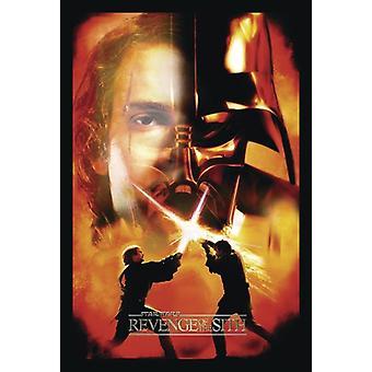 Vengeance affiche Star Wars Episode III de la Sith Anakin Skywalker / Darth Vader (visage)