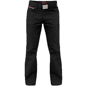 Duke London Mens Mario Big Tall King Size Bedford Cord Jeans Trousers With Belt