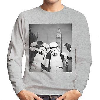 Alkuperäinen Stormtrooper Selfie Big Ben Miesten huppari