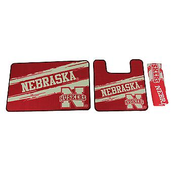 NCAA Nebraska Cornhuskers 3 Piece Bath Accessory Set