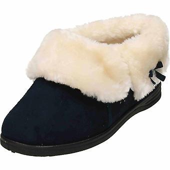 Cushion-Walk Brown Slip On Plush Ankle Bootee Slipper House Shoe