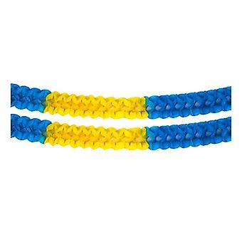 Girlang blauw/geel 2-pack 2,5 meter
