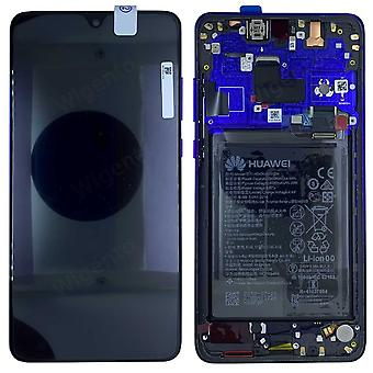 Huawei vise LCD enhed + 20 Pro Service Pack 02352GFX Midnight Blue Blau ramme for mate nye