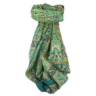Klassische Paisley langer Schal Maulbeere Sehgal Teal von Pashmina & Seide Seide