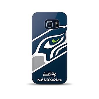 Mizco Sports NFL Oversized Snapback TPU Case for Samsung Galaxy S6 Edge (Seattle Seahawks)