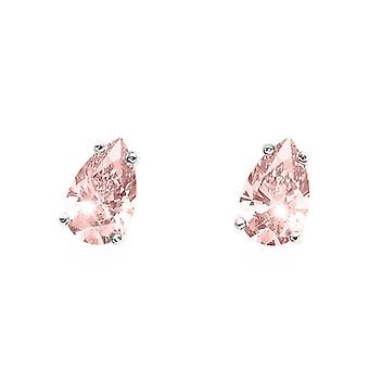 Earring Pear 925AG RH lt. Rose