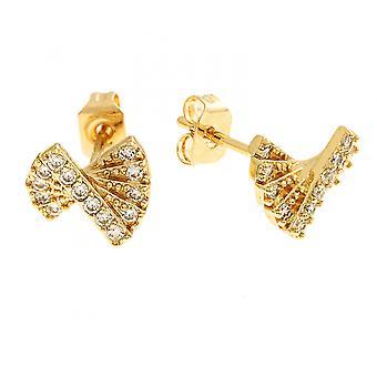Bertha Sophia Collection Women's 18k YG Plated Fan Fashion Earrings