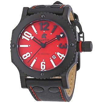 CAPA Watches CA2210RD-BK-unisex wristwatch, leather, color: black