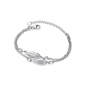 Cavendish French Silver Double Feather Spirit Bracelet