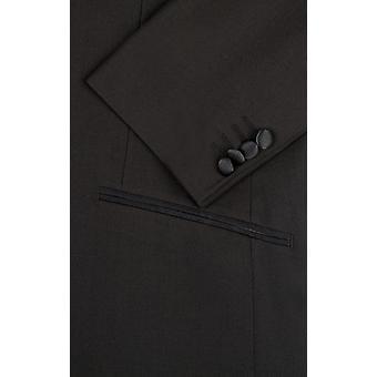 ・ ドベル メンズ ブラック 2 個入りタキシード スキニー フィット ノッチ襟夜のディナー ・ スーツ