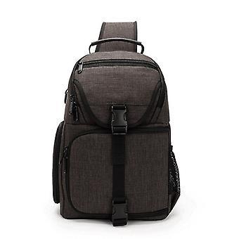 Shoulder backpack for camera and equipment-grey