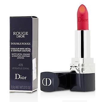 Christian Dior Rouge Dior dubbele Rouge mat metaal kleur & Couture Contour Lipstick - # 470 veelzijdige koraal - 3.5g/0.12oz