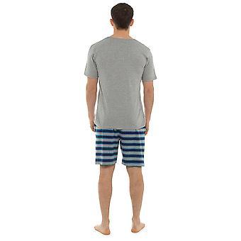 Sokken Uwear Mens Jersey katoen V-Neck Top & gestreepte Print Shorts pyjama 's