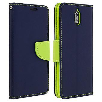 Fantasievolle Stilabdeckung, Brieftasche mit Stand für Nokia 3.1-Dunkelblau