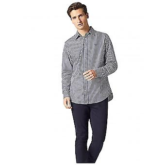 Crew Clothing Classic Fit Gingham Shirt In Navy