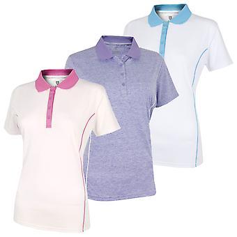 Island Green Womens Golf IGLTS1882 Contrast Piping Polo Shirt