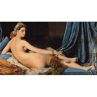 La Grande Odalisque, Jean-Auguste Dominique Ingres, 60x33cm