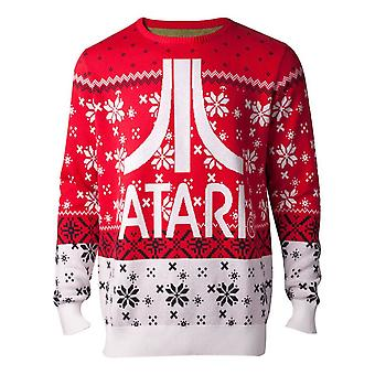 Atari Jumpers Logo Knitted Mens Sweater Multicolor Male XX-Large KW234385ATA-2XL