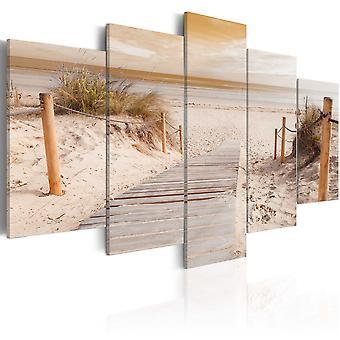 Wandbild - Morning on the beach - sepia
