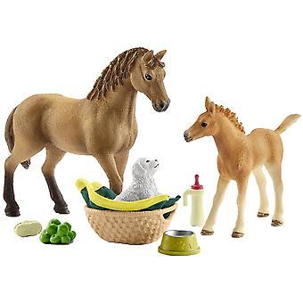 Schleich 42432 Horse Club Sarah S bebis djur vård