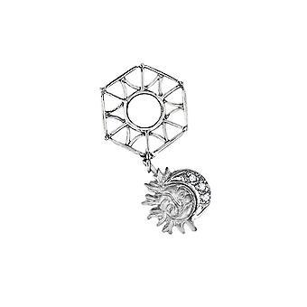 Storywheels Silver Sun & Moon Dangle Charm S047SAND