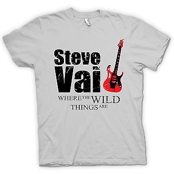 Herren T-Shirt - Steve Vai Wild Things - Guitar Legend