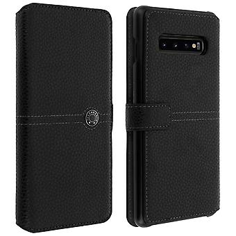 Samsung Galaxy S10 Plus Flip Case Card Holder Textured Effect Façonnable Black