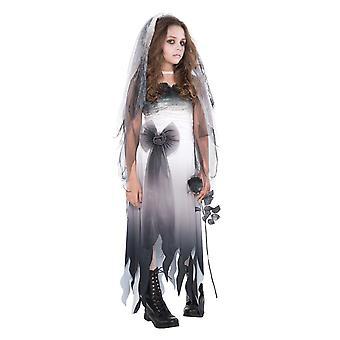 Κορίτσια κοιμητήριο νύφη ζόμπι Απόκριες φανταχτερό φόρεμα κοστούμι