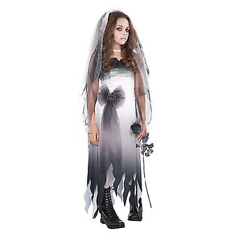 Mädchen Friedhof Braut Zombie Halloween Fancy Kleid Kostüm