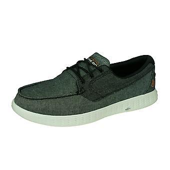Skechers On The Go Glide Coastline Mens Boat / Deck Shoes - Grey