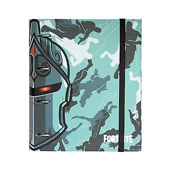 Fortnite Premium Ringbuch DIN A4 mit 4 Ringen blau Hardcover, mit Gummiband