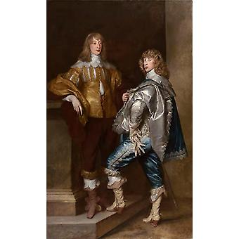 Lord John Stuart and His Brother, Lord, Anthony Van Dyck, 60x37cm