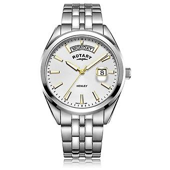 Rotary | Mens Henley | White Dial | Zilveren Stainless Steel Bracelet GB05290/70 Watch