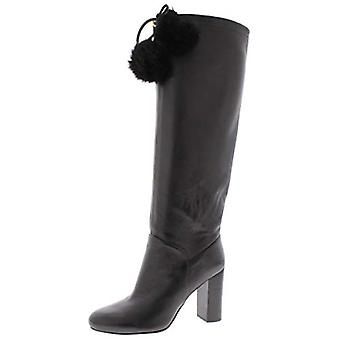 Michael Michael Kors Womens Remi Suede Pom Knee-High Boots