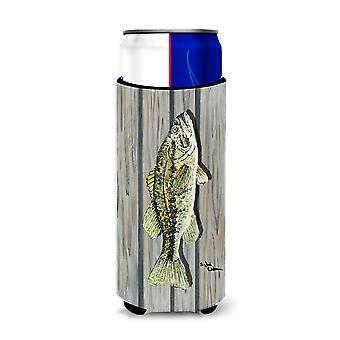 Carolines Treasures  8493-Parent Fish Bass Ultra Beverage Insulators for slim ca
