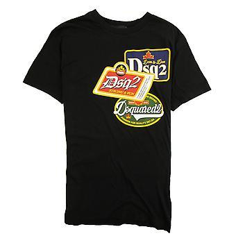 Dsquared2 stark & Spaß Vintage T-shirt schwarz 900