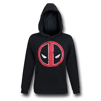 Deadpool sudadera con capucha de símbolo afligido