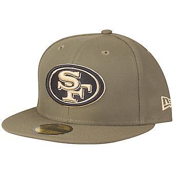 Nova Era 59Fifty tampão cabido-San Francisco 49ers Olive
