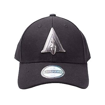 Assassins Creed Odyssey Baseball Cap Metal Badge Logo Official Black Curved Bill