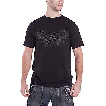 Disturbed T Shirt Beware The Vultures band logo new Official Mens Black