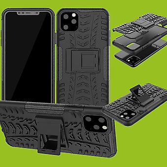 For Apple iPhone 11 6.1 Inch Hybrid Case 2Piece Outdoor Black Case Cover Cover Protection