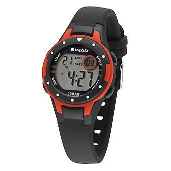 SINAR Youth Watch Kids Wristwatch Digital Quartz Silicone XE-52-4 Red Black