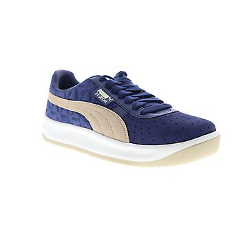 Puma GV Special Lux  Mens Blue Suede Low Top Lace Up Sneakers Shoes