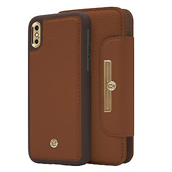 Marvêlle iPhone X/Xs Magnetic Case & Wallet Light Brown Chic