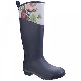 Muck Boots Tremont RHS Imprimer imperméable Wellington Boot Navy/Grey Roses
