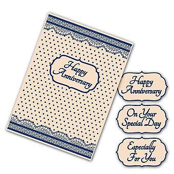 Tattered Lace Card Embossing Folder 4pc C6 Set - Interchangeable Spots