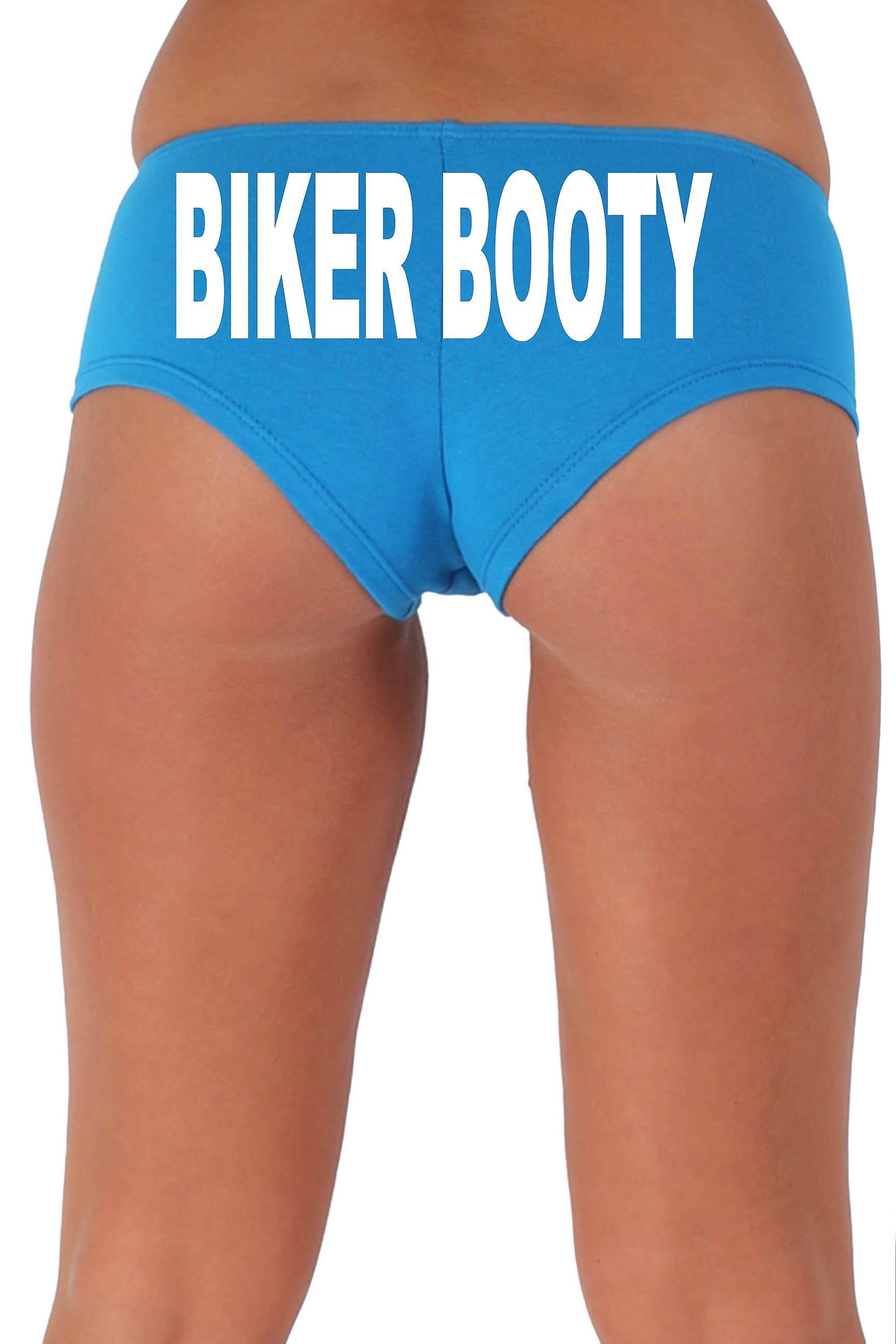 Kvinnor ' s vit Biker 1 Booty shorts