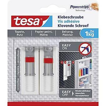 tesa Tesa ® Klebende skrue justerbart hvitt innhold: 2 stk(er)