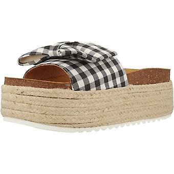 Espadrille sandalen geel Bettie kleur zwart
